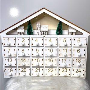 NEW SUNNYGLADE White Wooden Advent Light Calendar